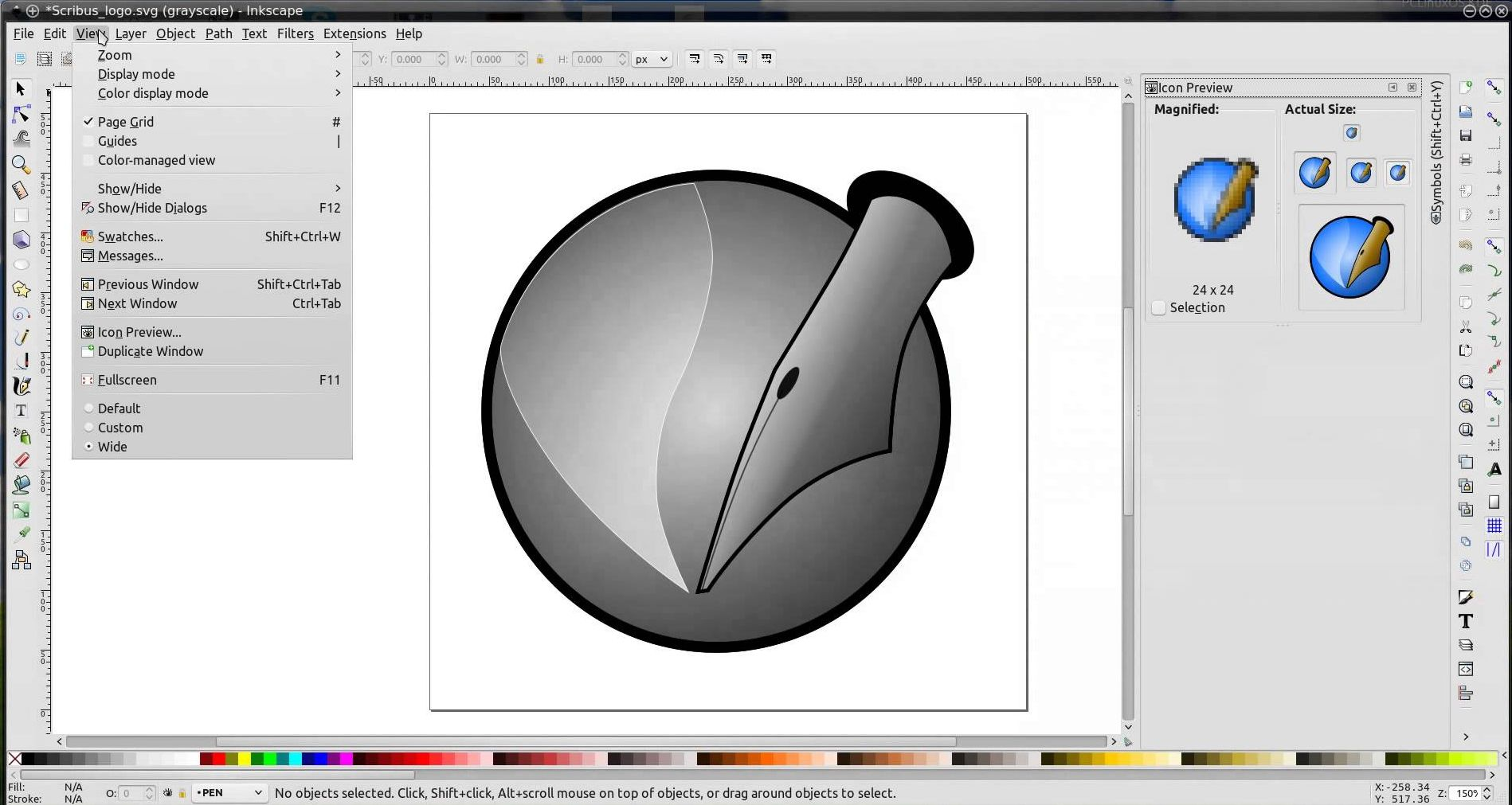 inkscape 0.91 screen