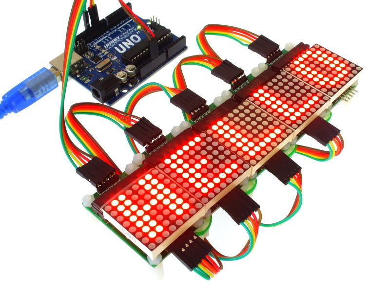 Arduino DOT matrix 8x8 voorbeeld MAX7219