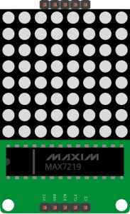 Display DOT matrix 8x8 fritzing