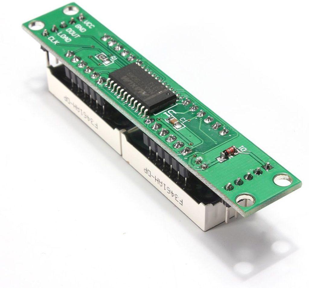 Display module 8x7 segmenten module SPI (MAX7219) achterkant