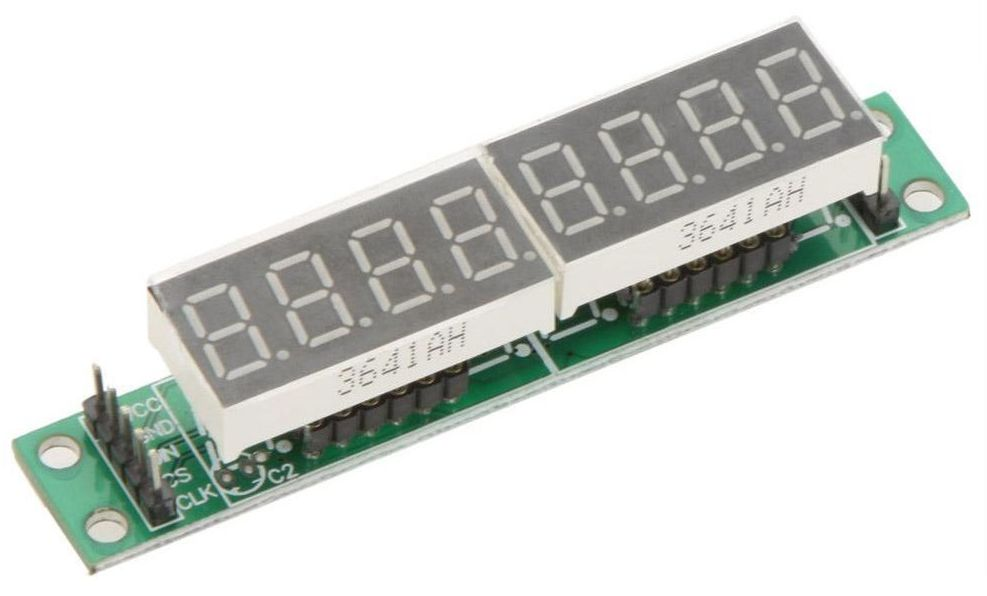 Display module 8x7 segmenten module SPI (MAX7219) bovenkant