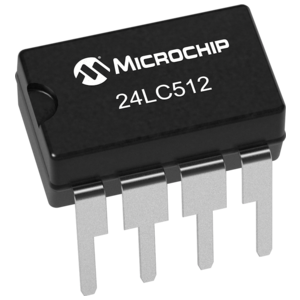EEPROM geheugen 512 Kbit - 64 Kb (24LC512) chip