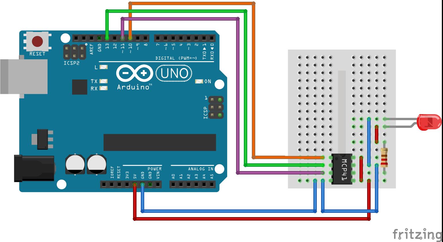 MCP41xxx arduino schema