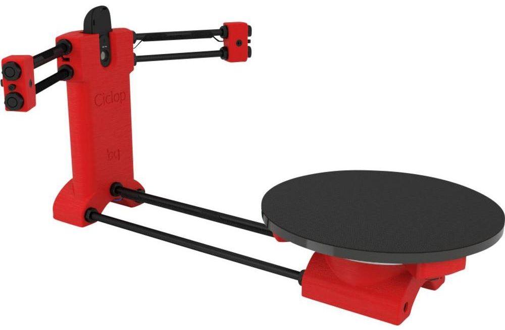 Ciclop 3D scanner voorkant schuin