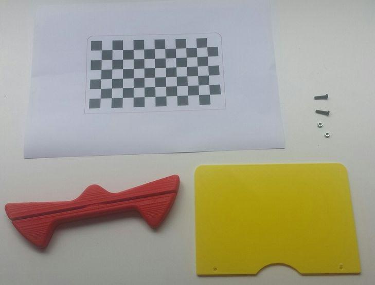 Ciclop kalibratie plaat foto