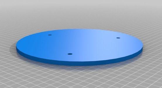 Ciclop onderdeel basisplaat in 1 deel model