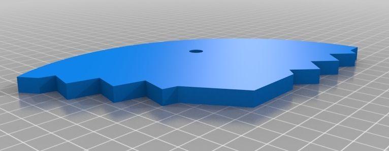 Ciclop onderdeel basisplaat in 3 delen model