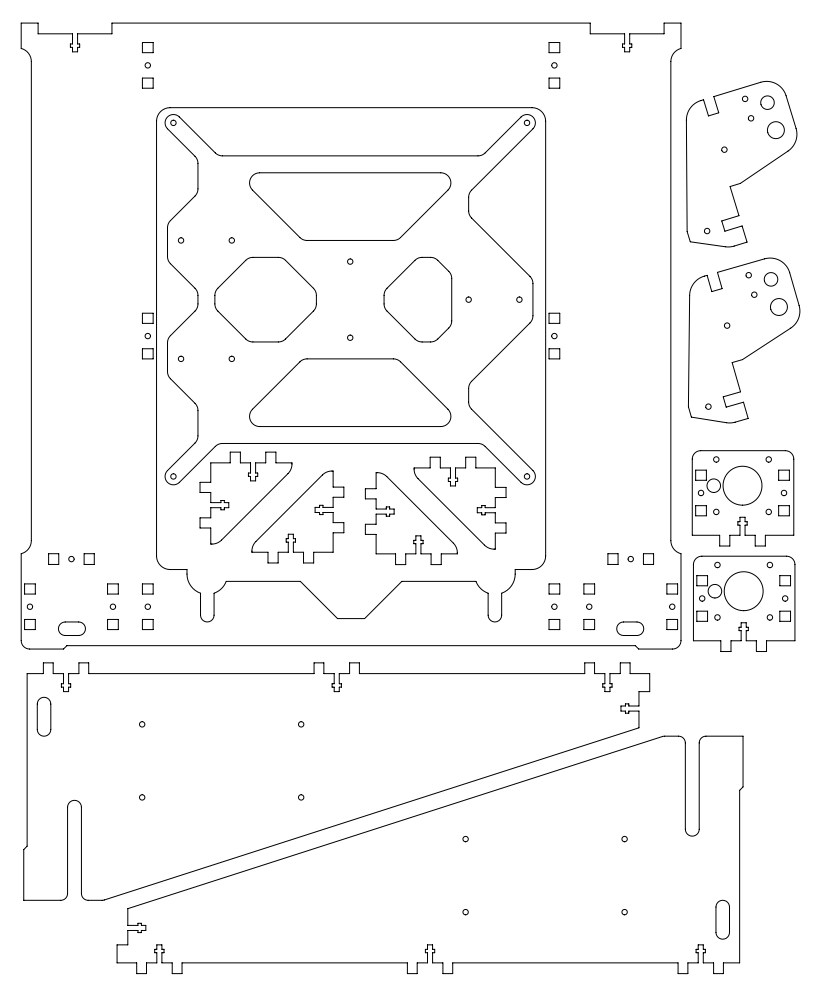 Prusa i3 Improved for laser cut onderdeel Plate