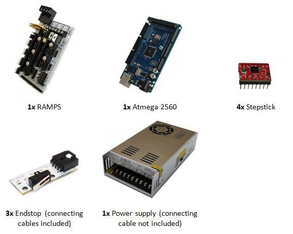Prusa i3 Rework elektronische onderdelen