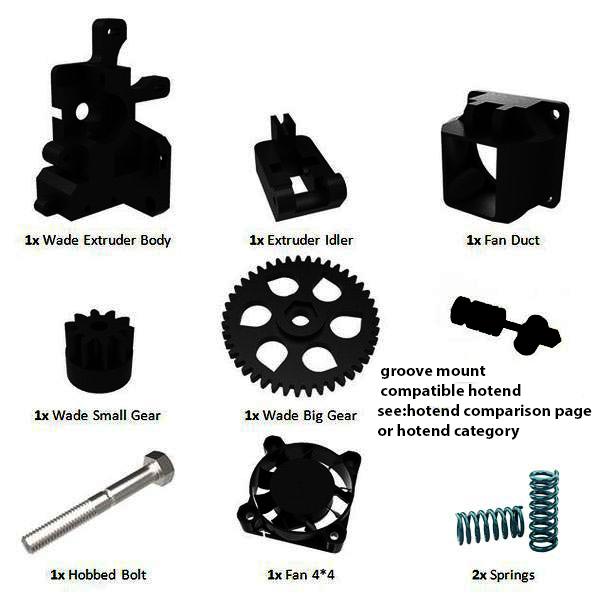 Prusa i3 Rework extruder onderdelen