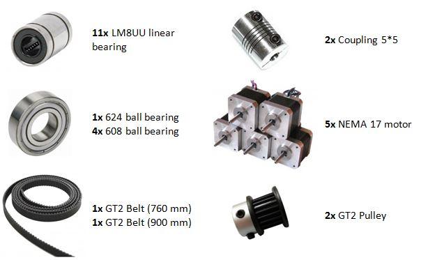 Prusa i3 Rework mechanische onderdelen