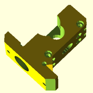 Prusa i3 onderdeel Compact-extruder