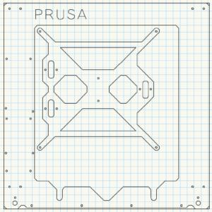 Prusa i3 onderdeel Plate
