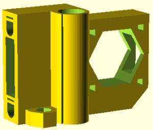 Prusa i3 onderdeel X-end-motor