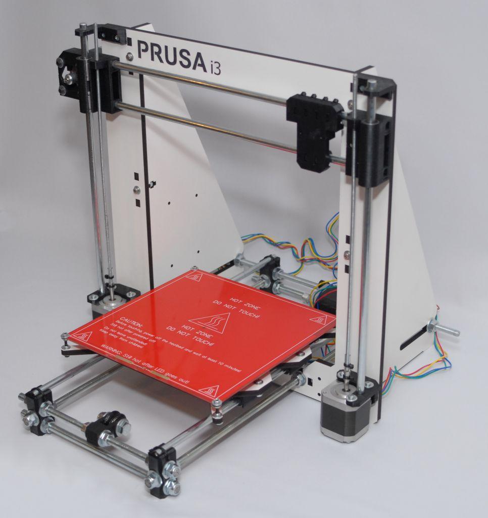 Prusa i3 wood gemonteerd