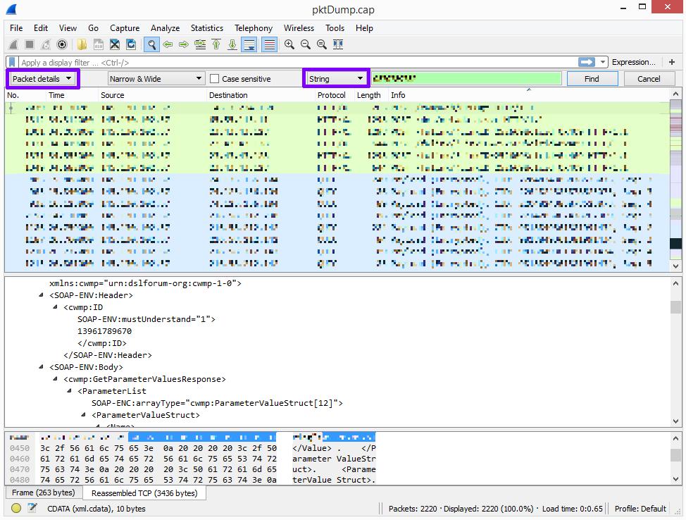 SIP gegevens wireshark