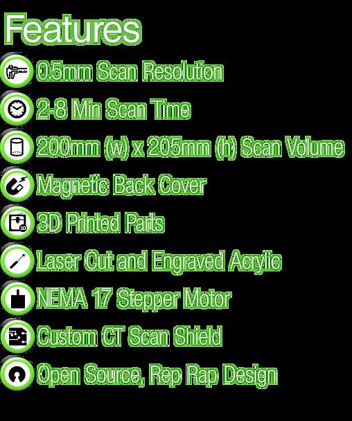cowtech ciclop 3d scanner onderdelen