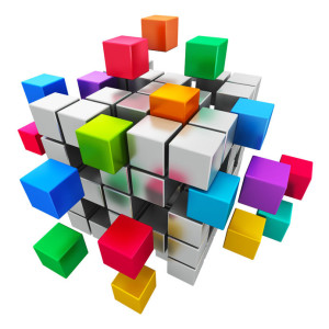 kubus gekleurde blokken