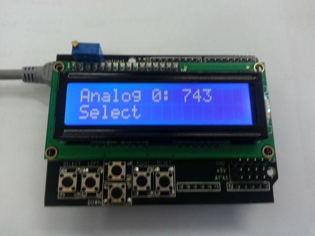 Arduino Shield - LCD1602 display met keypad