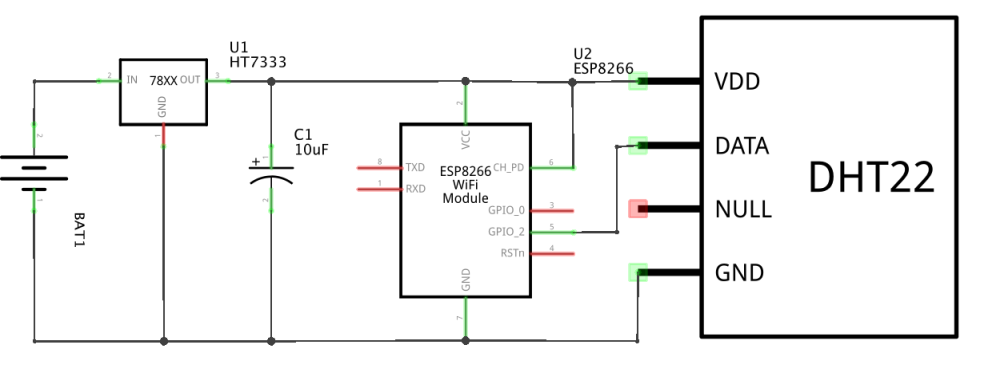 ESP8266 WiFi Project - DHT22 DeepSleep naar EmonCMS (logger)