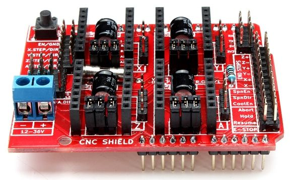 Mechanica Firmware - GRBL (Arduino CNC Shield)