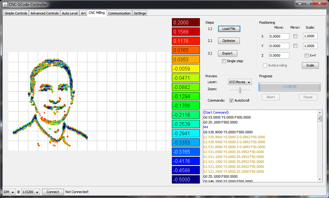 Mechanica Software – CNC-GCode-Controller