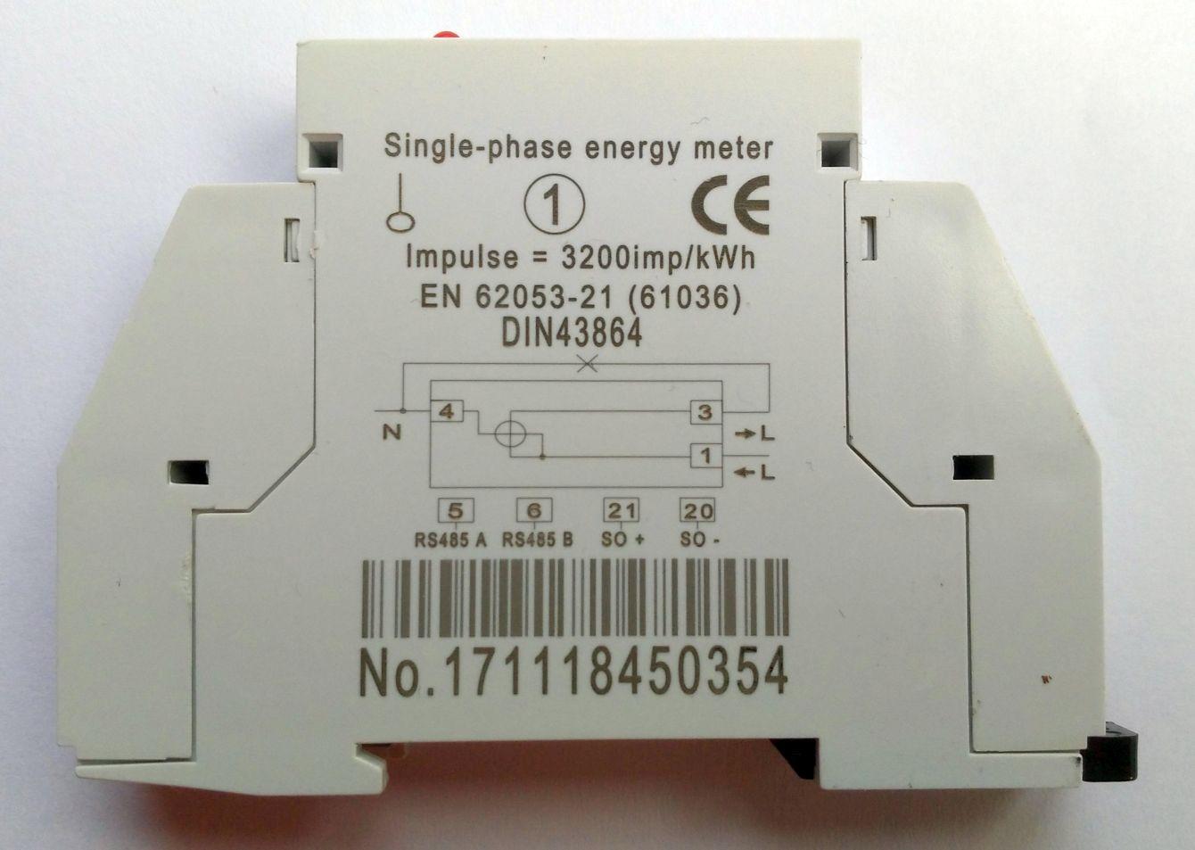Modbus - KWh meter - DDS238-1 ZN