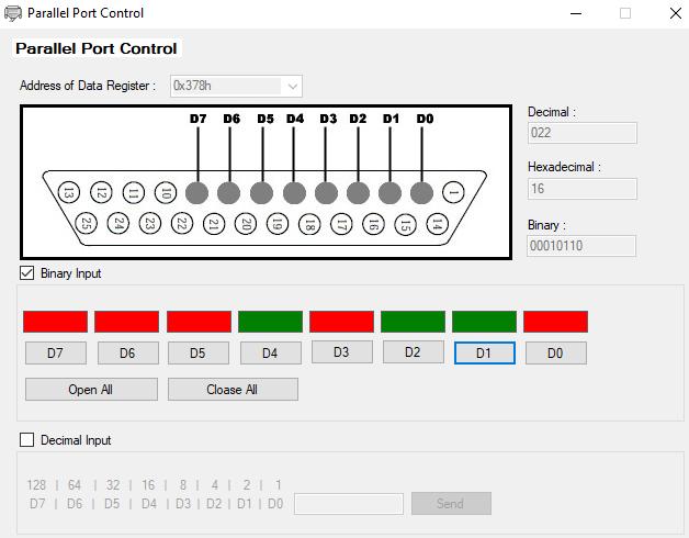 software parallel port control (windows)download parallel port control @ sourceforge net