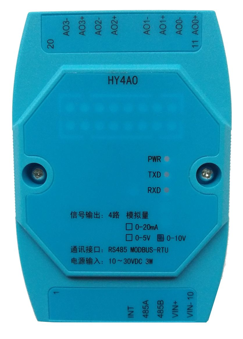 Modbus - D/A converter - HY4AO
