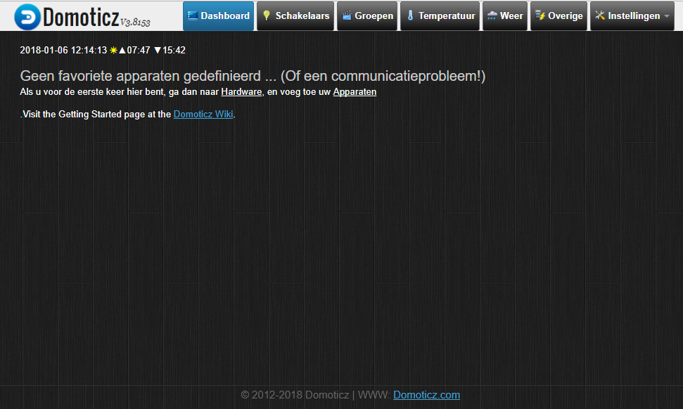 Internet of Things - Domoticz - Installeren op de Raspberry Pi