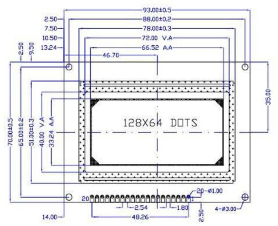Module - ST7920 - 128x64 LCD Display